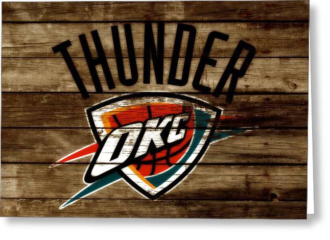 The Oklahoma City Thunder W9           Greeting Card