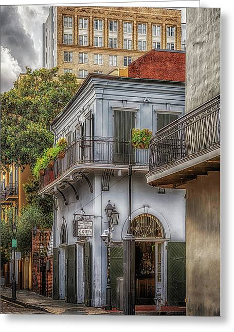 Greeting Card featuring the photograph The Old Absinthe House by Susan Rissi Tregoning