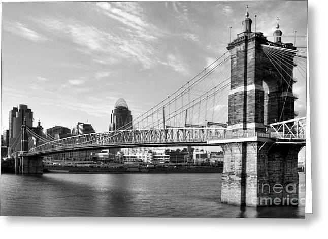 The Old And The New Bw Greeting Card by Mel Steinhauer