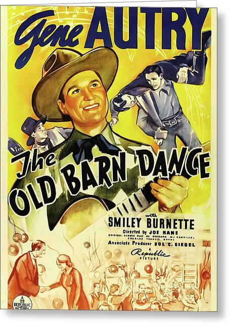The Old Barn Dance 1938 Greeting Card
