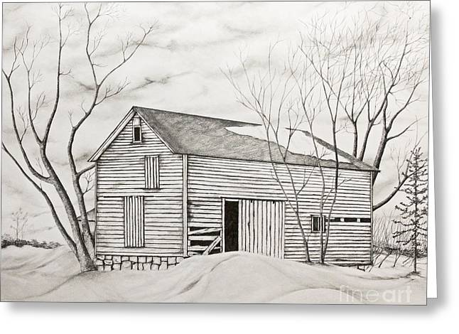The Old Barn Inwinter Greeting Card