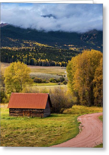 Greeting Card featuring the photograph The Old Barn On Ohio Pass by John De Bord