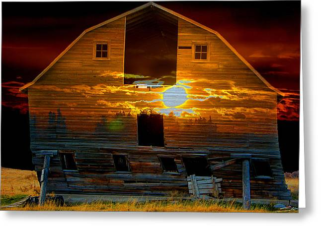 The Old Barn Greeting Card by Stuart Turnbull