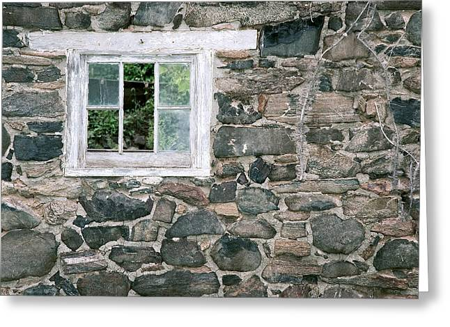 The Old Barn Window Greeting Card by Don Mennig