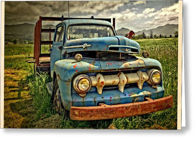 The Blue Classic Ford Truck Greeting Card