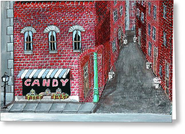 The Old Brick Candy Store Greeting Card by Gordon Wendling