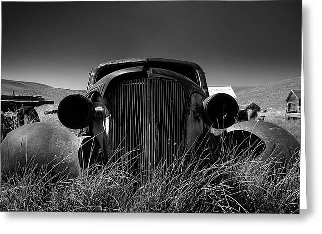 The Old Buick Greeting Card by Marius Sipa