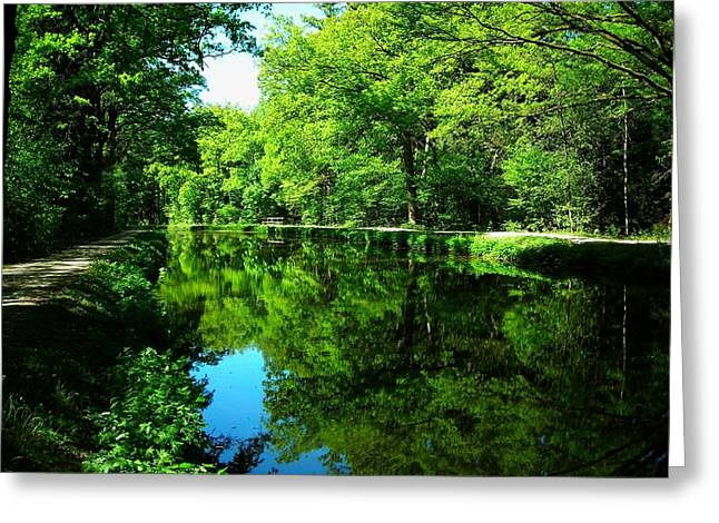 The Old Canal ... Greeting Card by Juergen Weiss