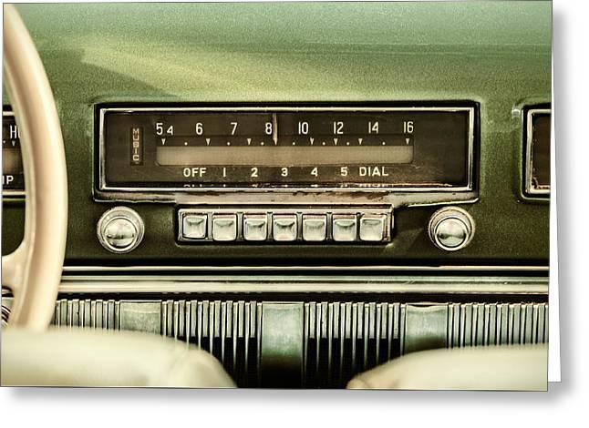 The Old Car Radio Greeting Card by Martin Bergsma