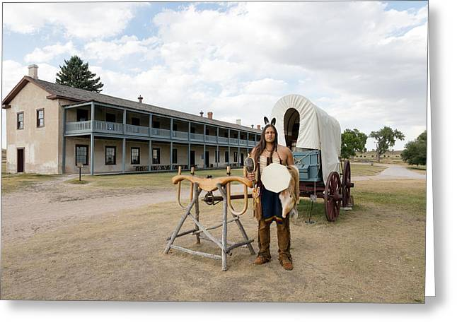 Greeting Card featuring the photograph The Old Cavalry Barracks At Fort Laramie National Historic Site by Carol M Highsmith
