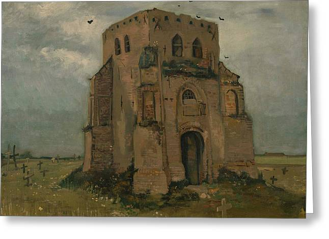The Old Church Tower At Nuenen Greeting Card