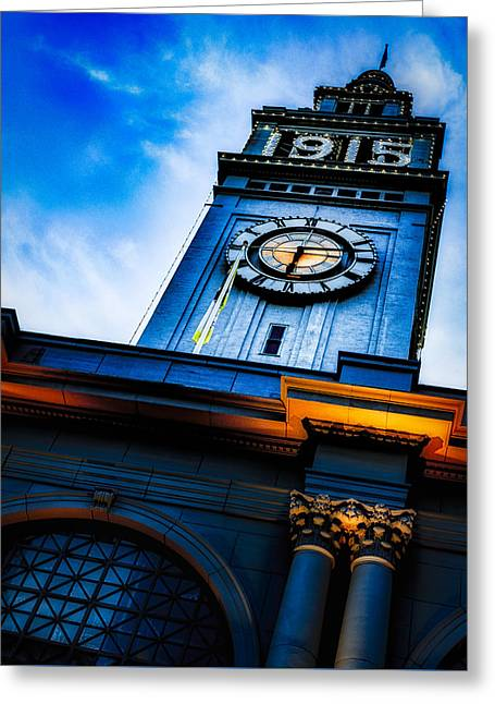 The Old Clock Tower Greeting Card