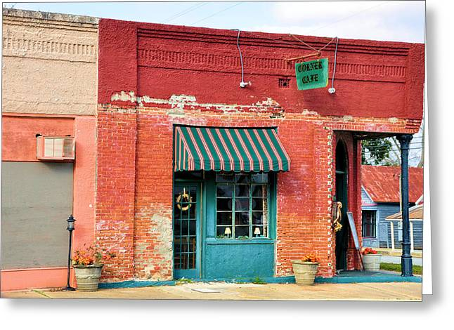The Old Coffee Cafe Greeting Card by Jan Amiss Photography