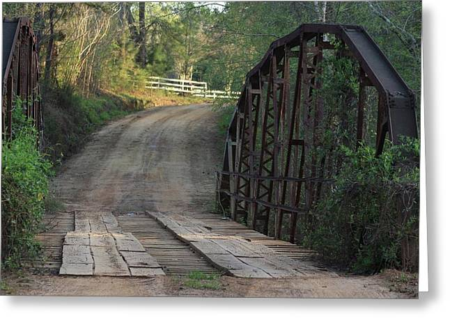 Greeting Card featuring the photograph The Old Country Bridge by Kim Henderson