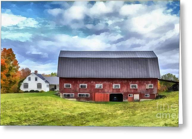 The Old Dairy Barn Etna New Hampshire Greeting Card