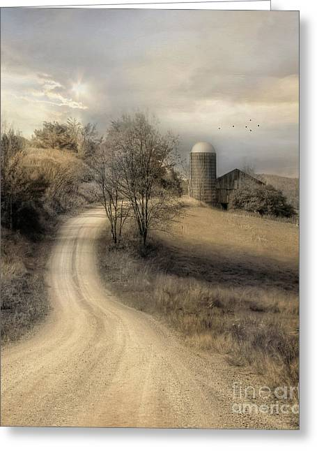 The Old Farm Greeting Card by Lori Deiter