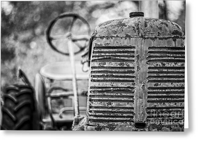 The Old Farm Tractor Greeting Card by Edward Fielding