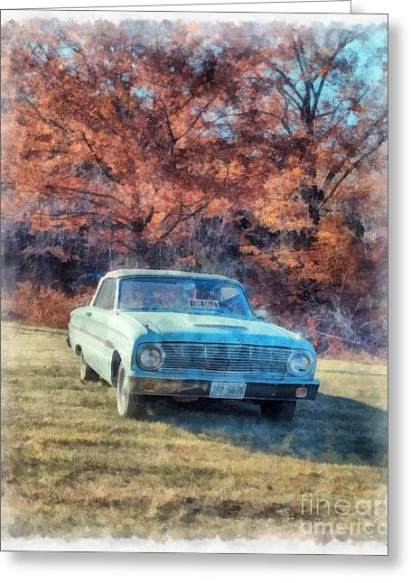 The Old Ford On The Side Of The Road Greeting Card by Edward Fielding