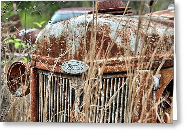 The Old Ford Tractor Greeting Card by JC Findley