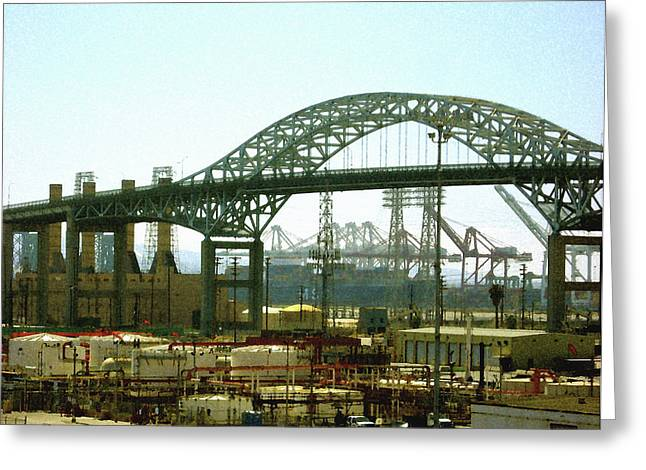The Old Gerald Desmond Bridge Greeting Card