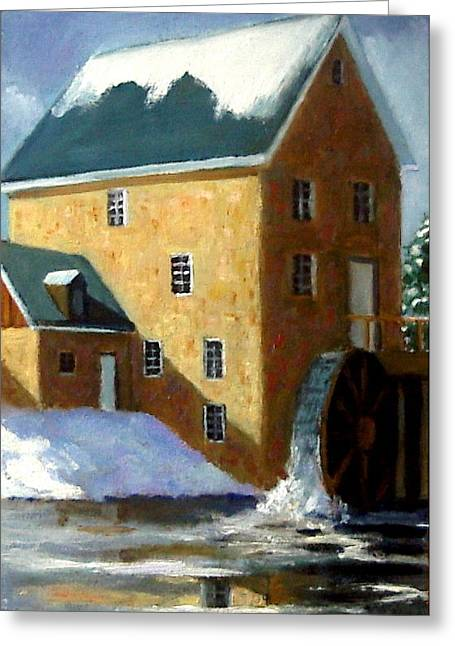 Joyce Geleynse Greeting Cards - The Old Grist Mill Greeting Card by Joyce Geleynse