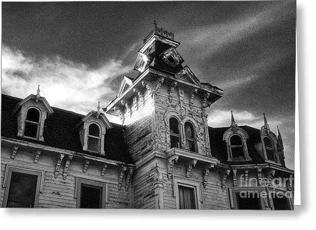 The Old Haunted Bruce Mansion Greeting Card by Jeff Holbrook