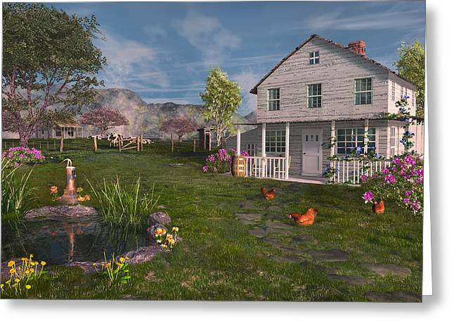 The Old Home Place Greeting Card by Mary Almond