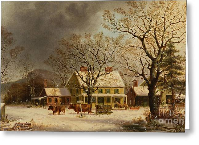 The Old Inn  Ten Miles To Salem Greeting Card