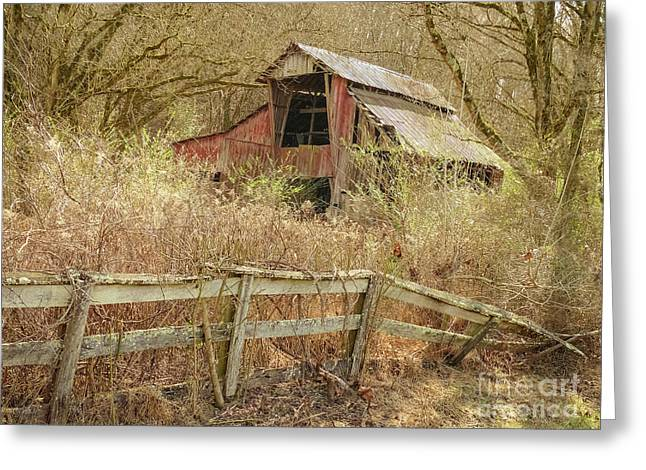 The Old Knob Creek Barn Tennessee Greeting Card