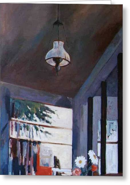 The Old Lamp Greeting Card by George Siaba