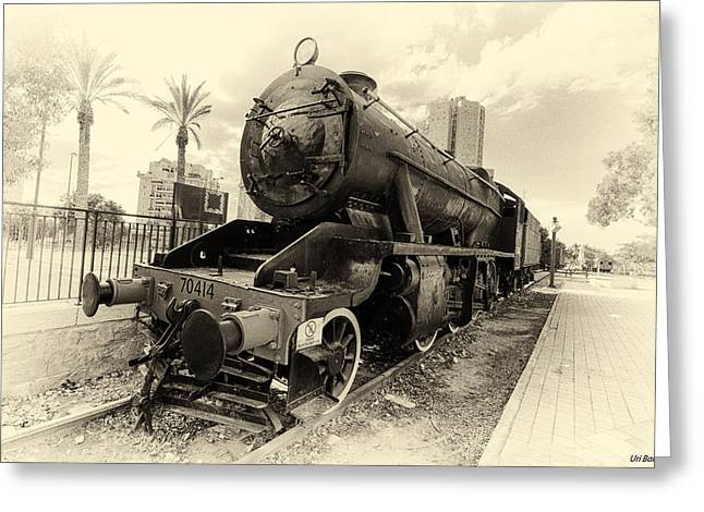 The Old Locomotive Greeting Card