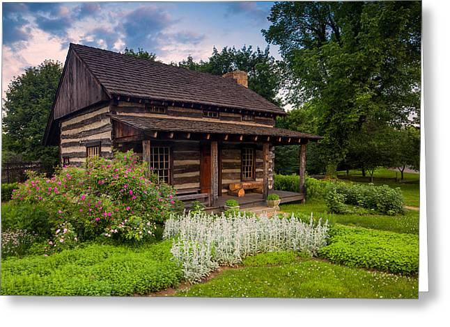 The Old Log Home  Greeting Card by Emmanuel Panagiotakis