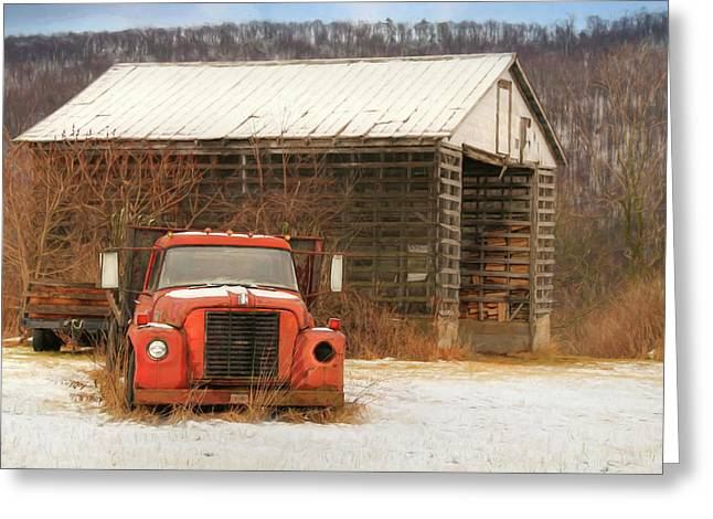 Greeting Card featuring the photograph The Old Lumber Truck by Lori Deiter