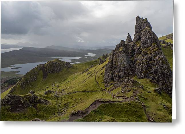 The Old Man Of Storr, Isle Of Skye, Uk Greeting Card