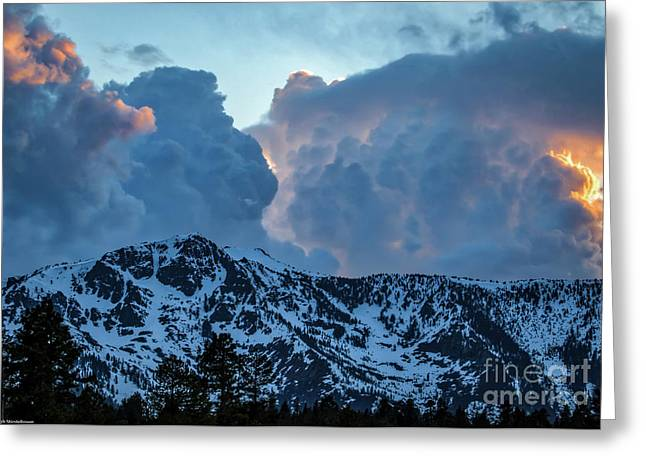 The Old Man Of The Mountain Greeting Card by Mitch Shindelbower