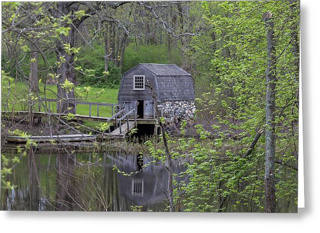 The Old Manse Boat House Greeting Card