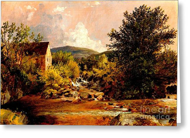 The Old Mill 1847 Greeting Card by Peter Gumaer Ogden Collection