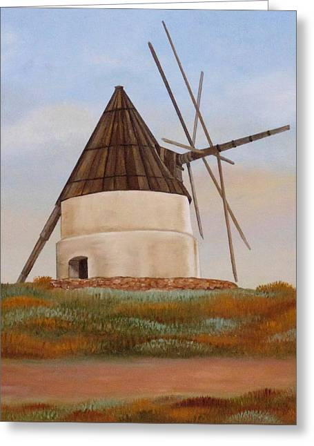 The Old Mill Greeting Card by Angeles M Pomata