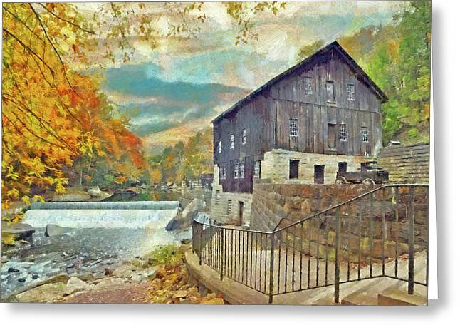 Greeting Card featuring the digital art The Old Mill At Mcconnells Mill State Park by Digital Photographic Arts