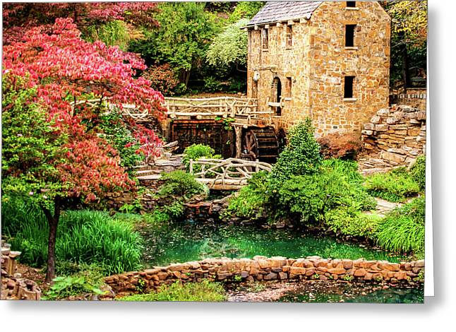 The Old Mill In Spring - Pughs Mill - North Little Rock Greeting Card by Gregory Ballos