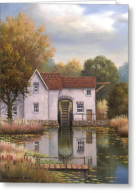 The Old Mill Greeting Card by Sean Conlon