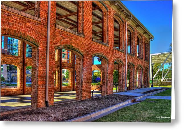 The Old Mill Wedding Venue Greenville South Carolina Art Greeting Card