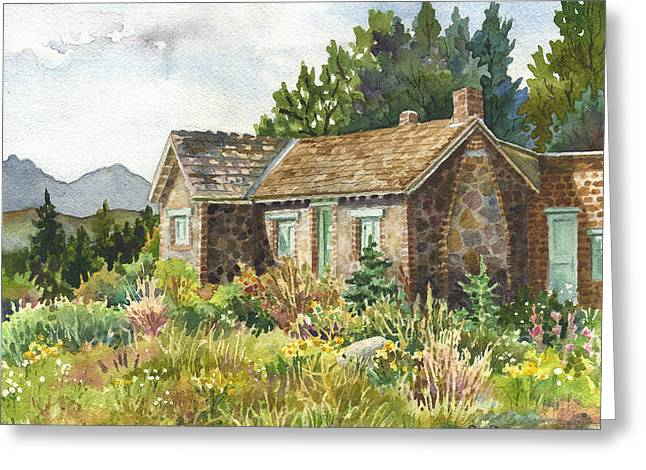 The Old Moore House At Caribou Ranch Greeting Card by Anne Gifford