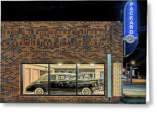 The Old Packard Dealership Greeting Card