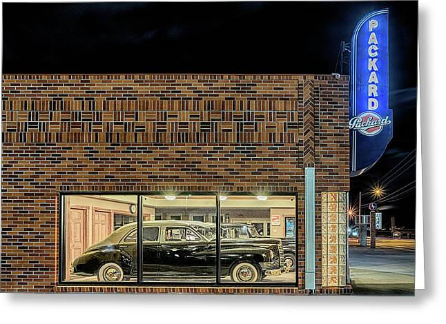 Greeting Card featuring the photograph The Old Packard Dealership by Susan Rissi Tregoning