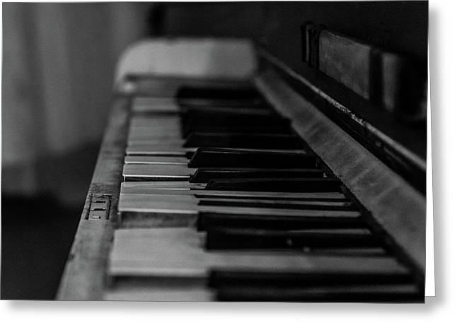 The Old Piano Greeting Card