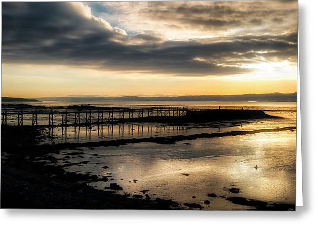 The Old Pier In Culross, Scotland Greeting Card