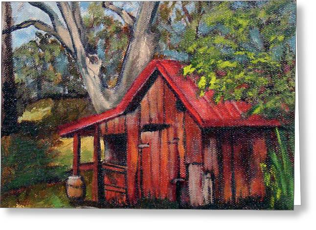 The Old Pig Barn Greeting Card