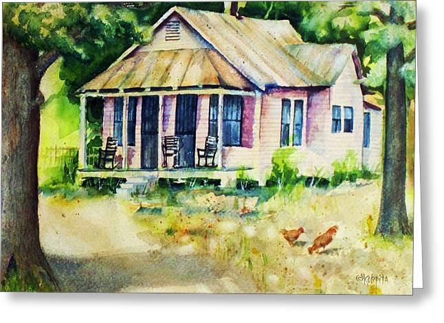 The Old Place Greeting Card by Rebecca Korpita