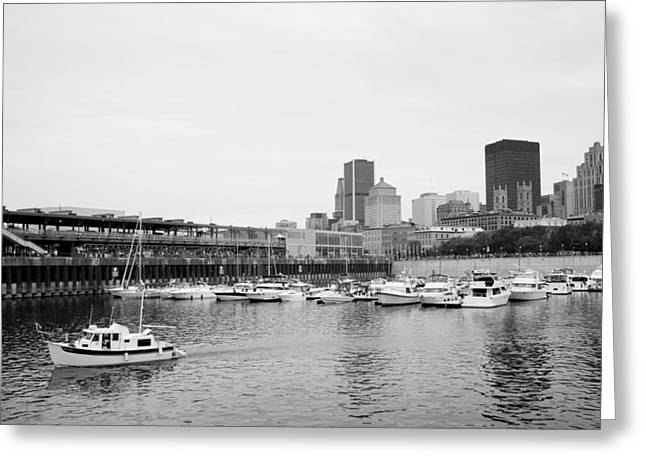 The Old Port In Montreal Greeting Card by Martin Rochefort